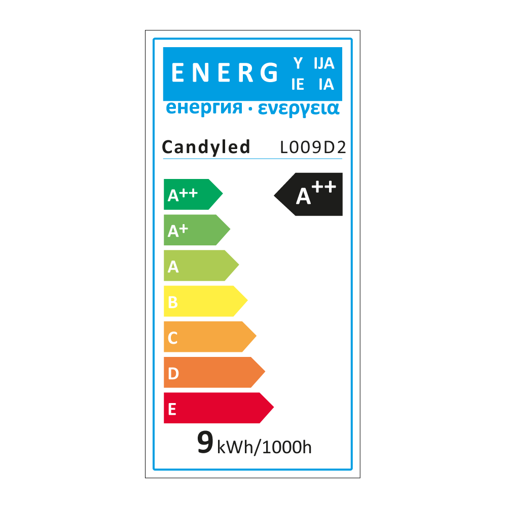 Lampe LED 9W Candyled Marquage CE