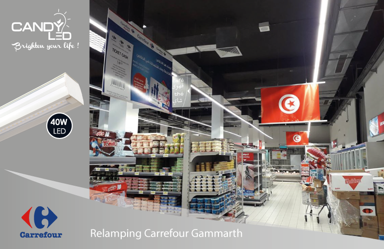 Lineaire LED Candyled References Carrefour Ghammarth
