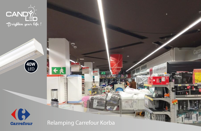 Lineaire LED Candyled References Carrefour Korba