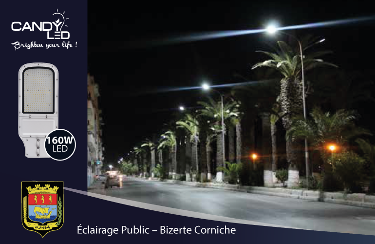 Eclairage Public Candyled References Bizerte Citylight