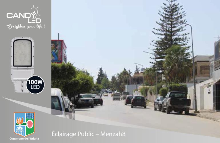 Eclairage Public References Candyled Menzah8 Citylight