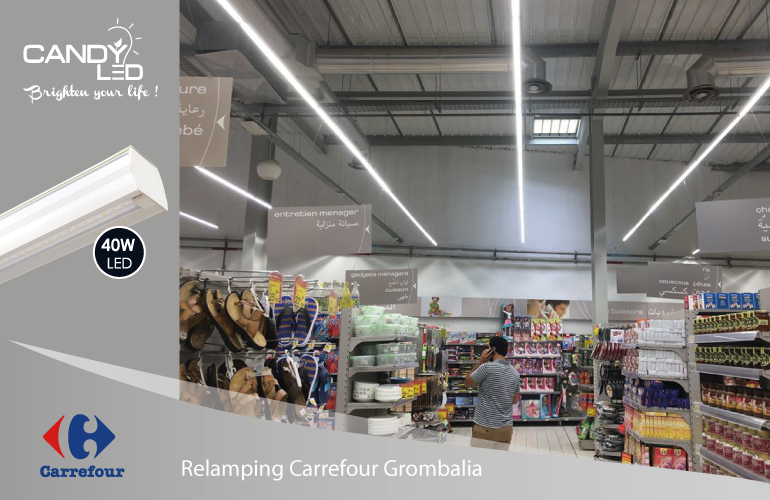 Lineaire LED Candyled References Carrefour Grombalia