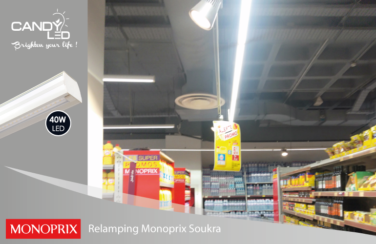 Lineaire LED References Candyled Monoprix Soukra
