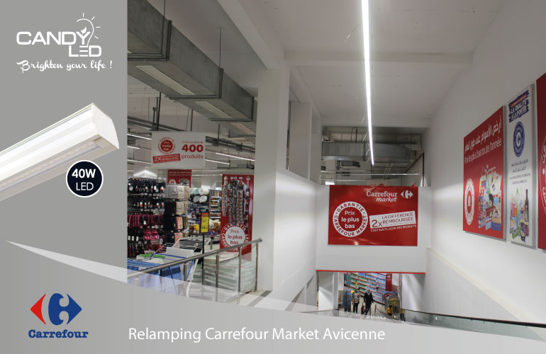 Lineaire LED References Candyled Carrefour Avicenne